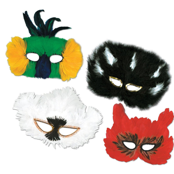 Beistle 50130 Classic Fanci-Feather Mask