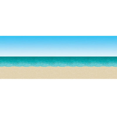 Beistle 52001 4'X30' Ocean & Beach Backdrop