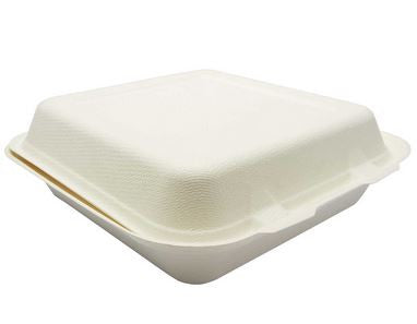 Compostable White 9x9 Carryout Container