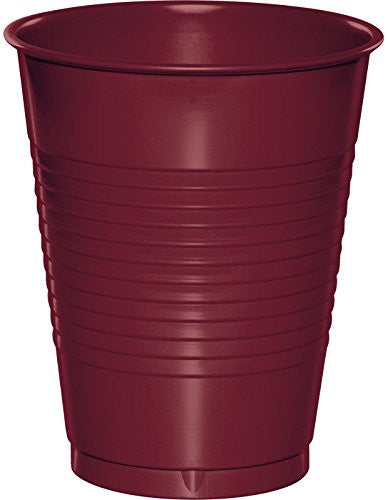 16 Oz Burgundy Disposable Plastic Cups
