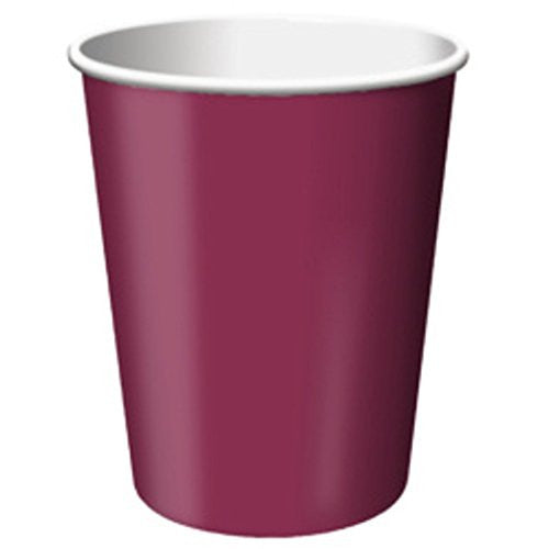 9 Oz Burgundy Paper Cups