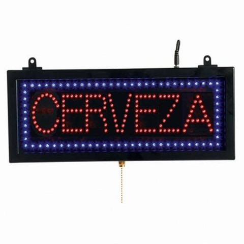 Aarco CER107S Small Spanish LED Sign Cerveza (Beer)