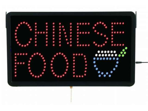 Aarco CHI09L Large LED Sign Chinese Food