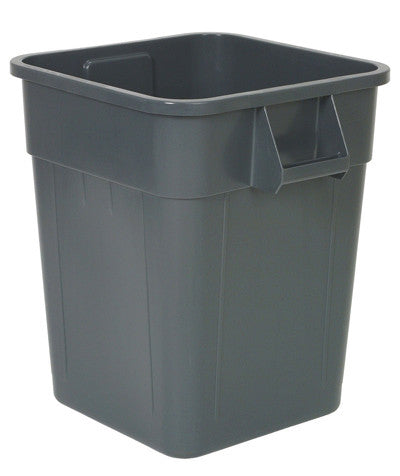 Continental 5000GY 55-Gallon Gray Huskee Square Receptacle