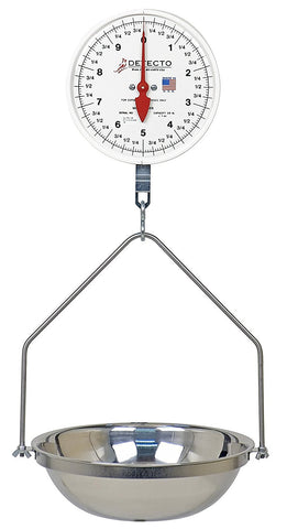 Detecto MCS-20DF Hanging Dial Scale, 20 lb. Capacity
