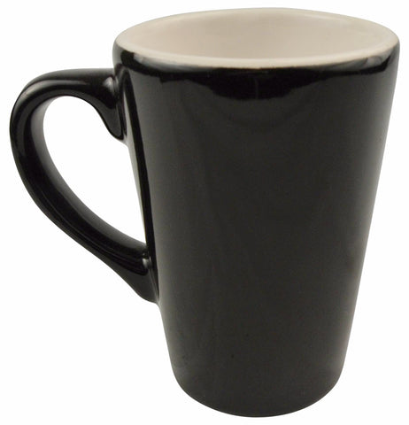 Diversified Ceramics DC106 8 Oz Balboa Mug Black/White