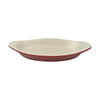 Diversified Ceramics DC528 12 Oz Welsh Rarebit Burgundy and White