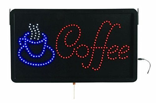Aarco COF03L Large LED Sign Coffee