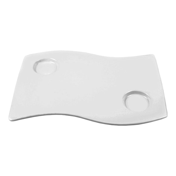 Mayfair Nami Platter 13x9 White Ceramic