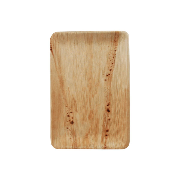 Compostable TR01 9 x 5 Palm Leaf Trays 25/Pack