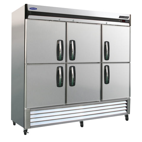 Nor-Lake NLF72-SH 3 Section Reach-in Freezer, Half Solid Doors