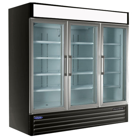 Nor-Lake NLGR70H 3 Glass Door Merchandiser