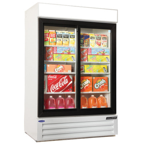 Nor-Lake NLGRP48-SL-W 2 Glass Slide Door Refrigerator Merchandiser