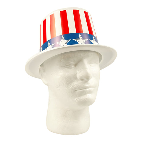 Patriotic Plastic Top Hats Stars & Stripes