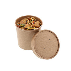 Royal PFC12NCOM 12 Oz Kraft Paper Food Container with Lid