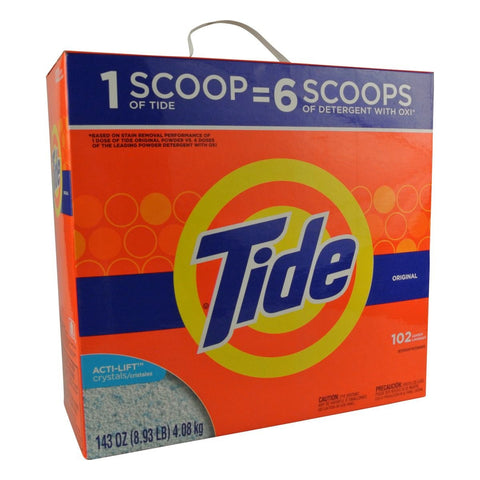 Tide 143 Oz HE Powder Laundry Detergent 102 Loads