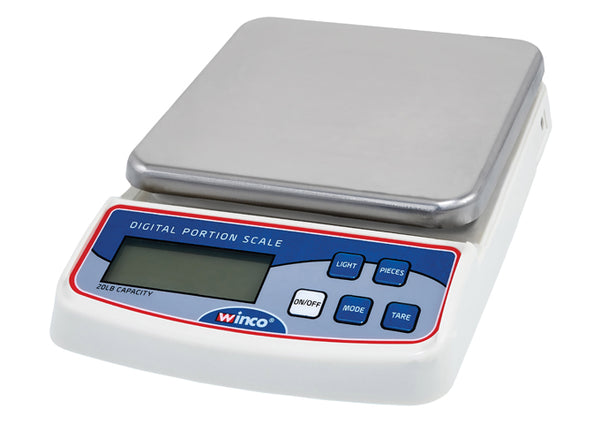 Winco SCAL-D20 20-Pound Stainless Steel Digital Scale