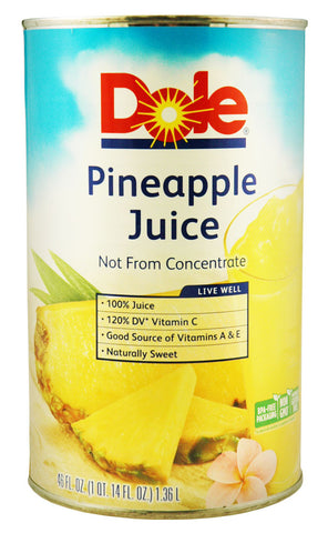 Dole 46 Oz Pineapple Juice Can