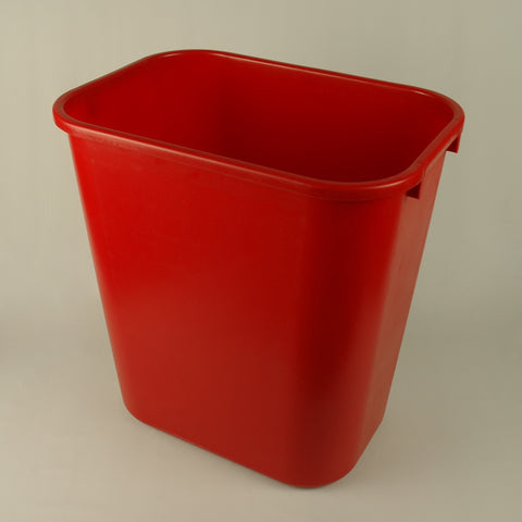 Red 28 Quart Desk Waste Basket - ShopAtDean  - 1