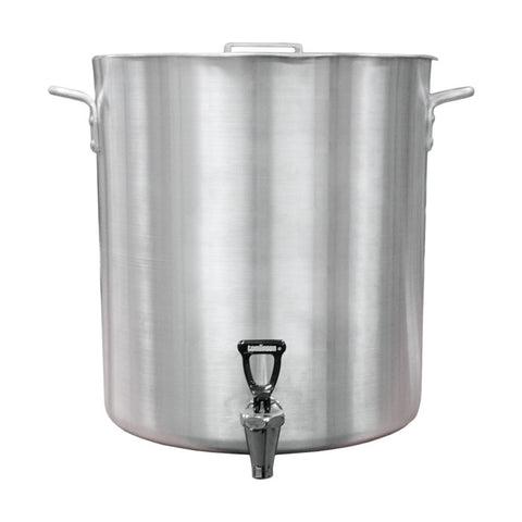 60-quart Aluminum Steamer Stock Pot with Lid and Basket