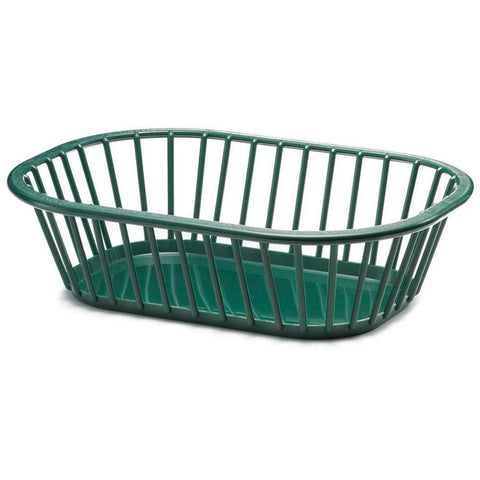 Tablecraft 1088FG Rectangular Forest Green Spoke Basket