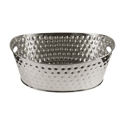 Tablecraft BT2013 Oval Beverage Tub Bali Stainless Steel