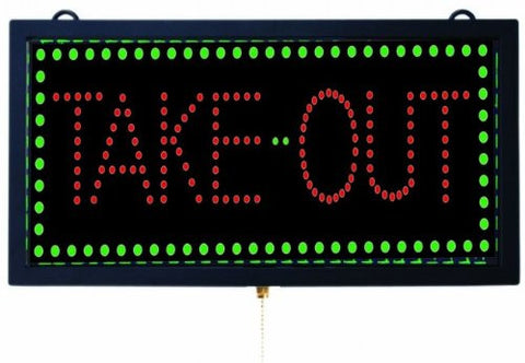 Aarco TAK12M Medium LED Sign Take Out
