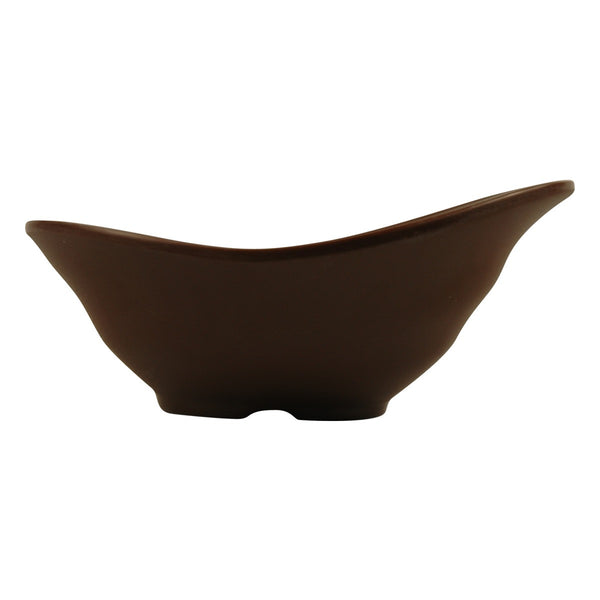 Tablecraft MB62BR 6.5 Oz Frostone Oval Wavy Bowl