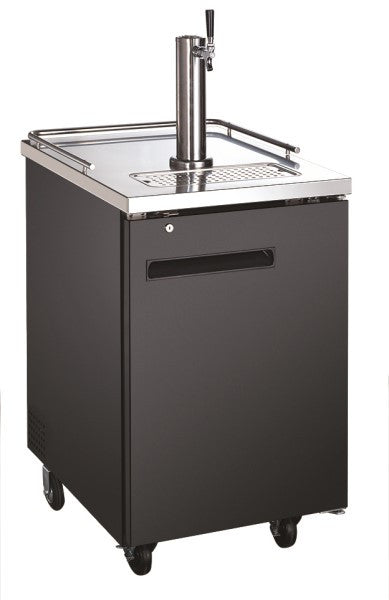 Adcraft USBD-2428 U-Star Beer Dispenser with/Single Tap Tower - (1) 1/2 Keg Capacity