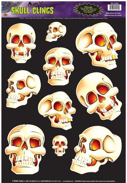 Skull Glass Magnet 10/Pack