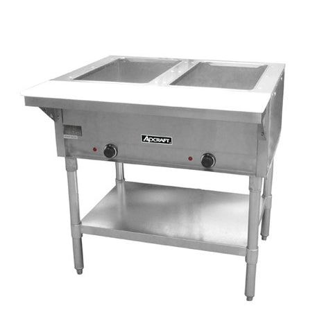 Adcraft ST-120/2 2 Bay Open Well Steam Table