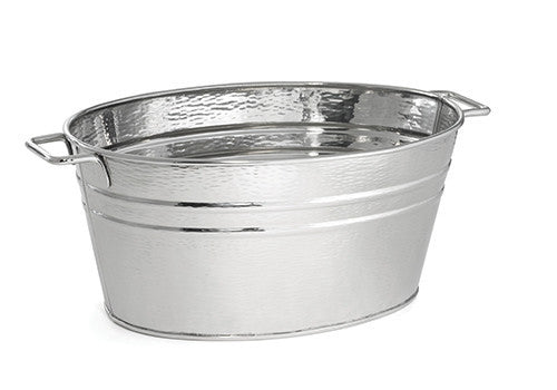 Tablecraft RBT2314 Remington 6 Gal Stainless Steel Oval Beverage Tub