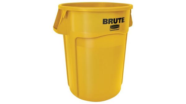 Rubbermaid FG264360 44 Gallon Yellow Brute Waste Container