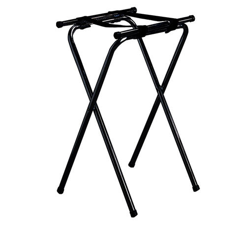 Tablecraft 24BK Tray Stand, Double Bar, Black Metal, 31