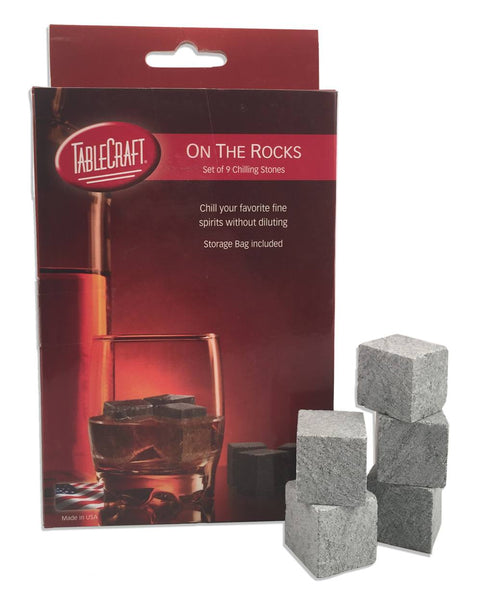 Tablecraft H1223 Whiskey Chilling Stones - Set of 9