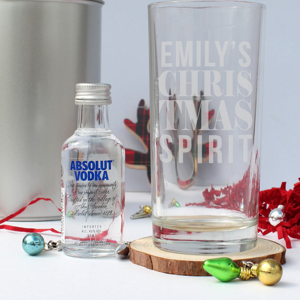 Christmas Spirit Personalised Vodka Gift Set