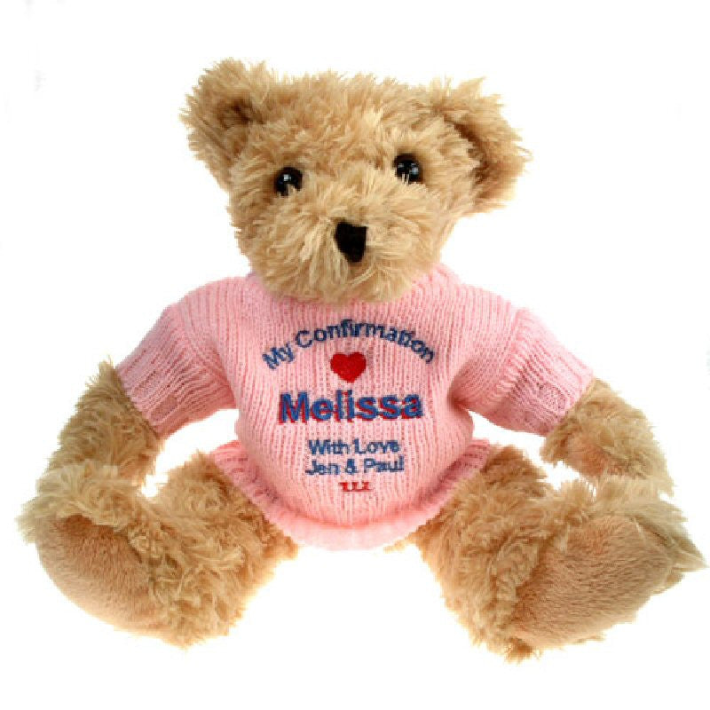 Confirmation Bear with Pink Jumper - Harringtons