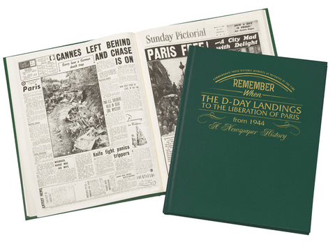 D-Day Landings Book Personalised Newspaper Book