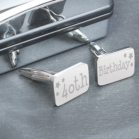 40th Birthday Keepsake Cufflinks
