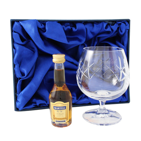 Personalised Crystal Glass & Brandy Gift Set