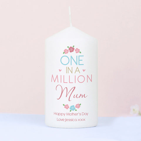 One In A Million Personalised Candle
