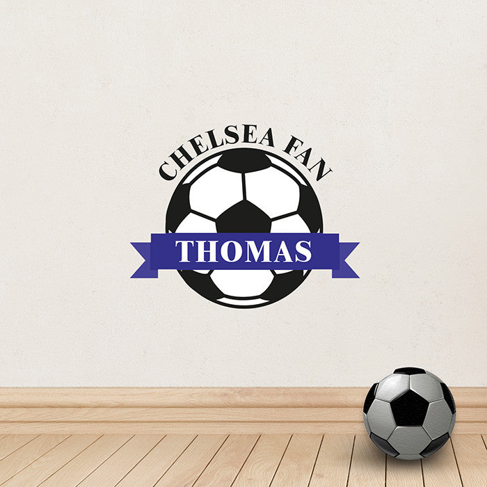 Chelsea Fan Personalised Football Wall Art