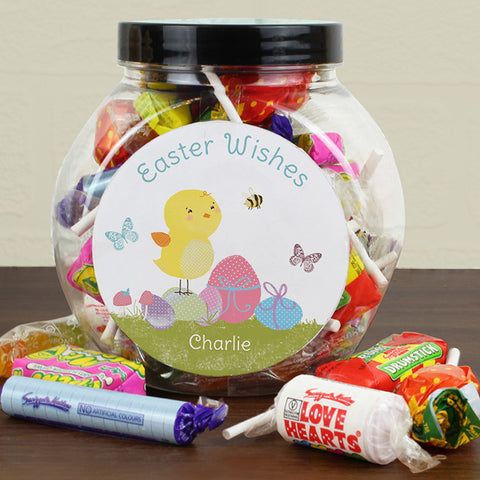 Personalised Easter Wishes Jar Of Sweets