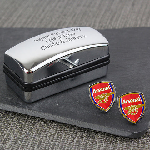 Arsenal Cufflinks In Personalised Gift Box