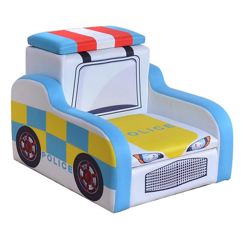 Police Car Child's Chair With Storage