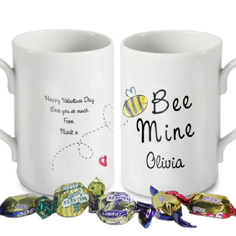 Bee Mine Personalised Valentine Mug - Harringtons