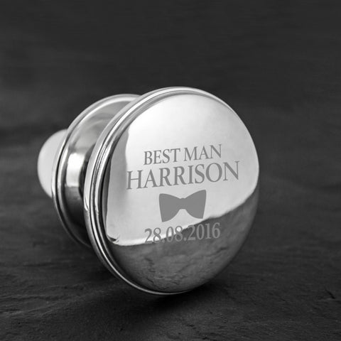 Best Man Personalised Bottle Stopper - Harringtons