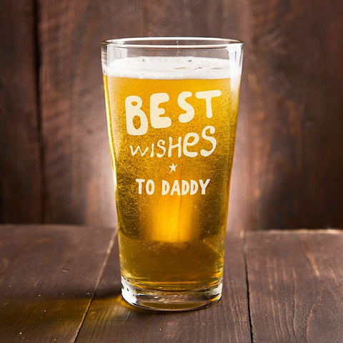 Best Wishes Personalised Pint Glass - Harringtons