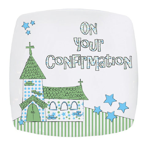 Blue Church Confirmation Plate - Harringtons