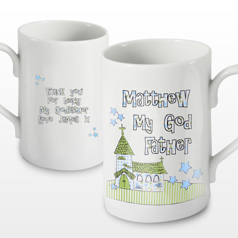 Church Design Personalised Godfather China Mug